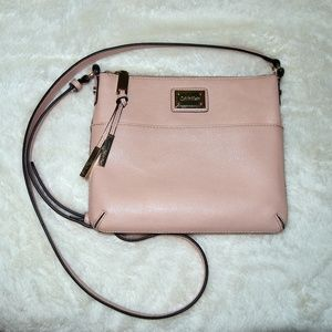 Calvin Klein Flat Pink Crossbody Bag Cute!